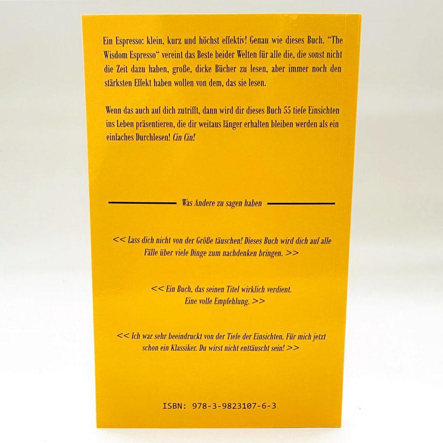 The Wisdom Espresso Softcover deutsch Rückseite
